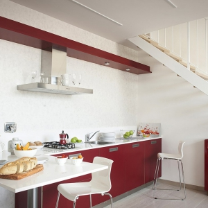 ROSSO TIZIANO kitchen full equipped